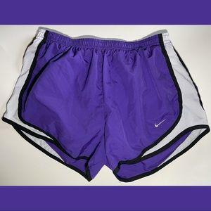 Nike Dri-Fit Shorts Purple Black & White
